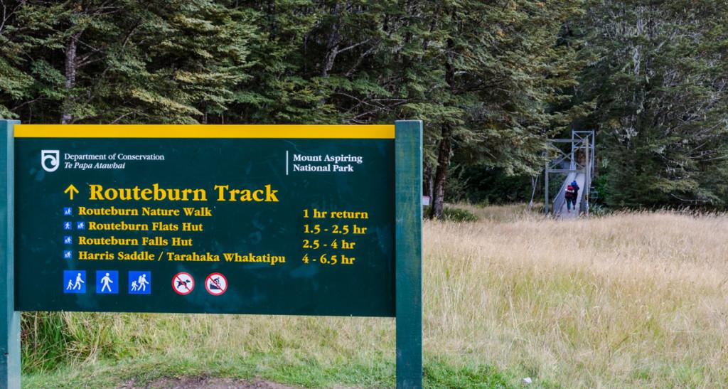 Routeburn Shelter, the start of Routeburn Track