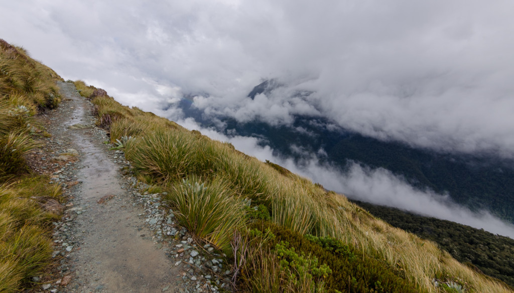 Lots of clouds on the Routeburn Track