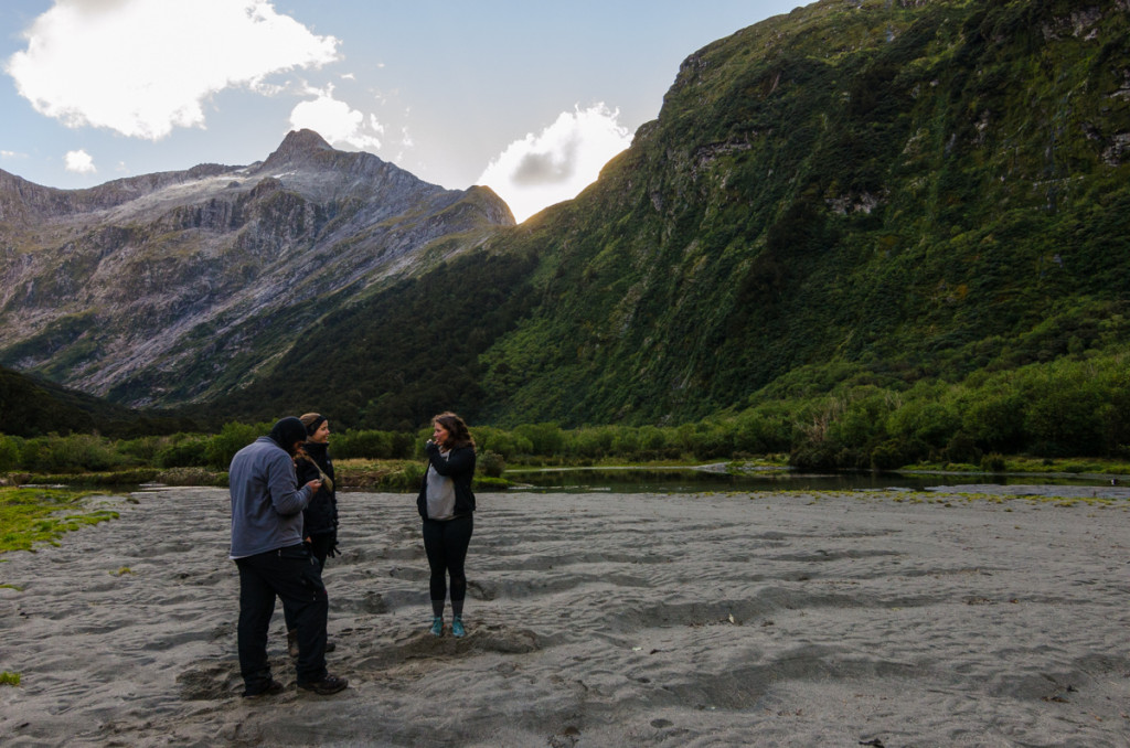 Dor, Anna, and Carla. Milford Track.