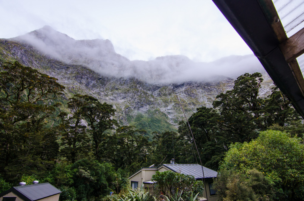 Morning view from Mintaro Hut, Milford Track