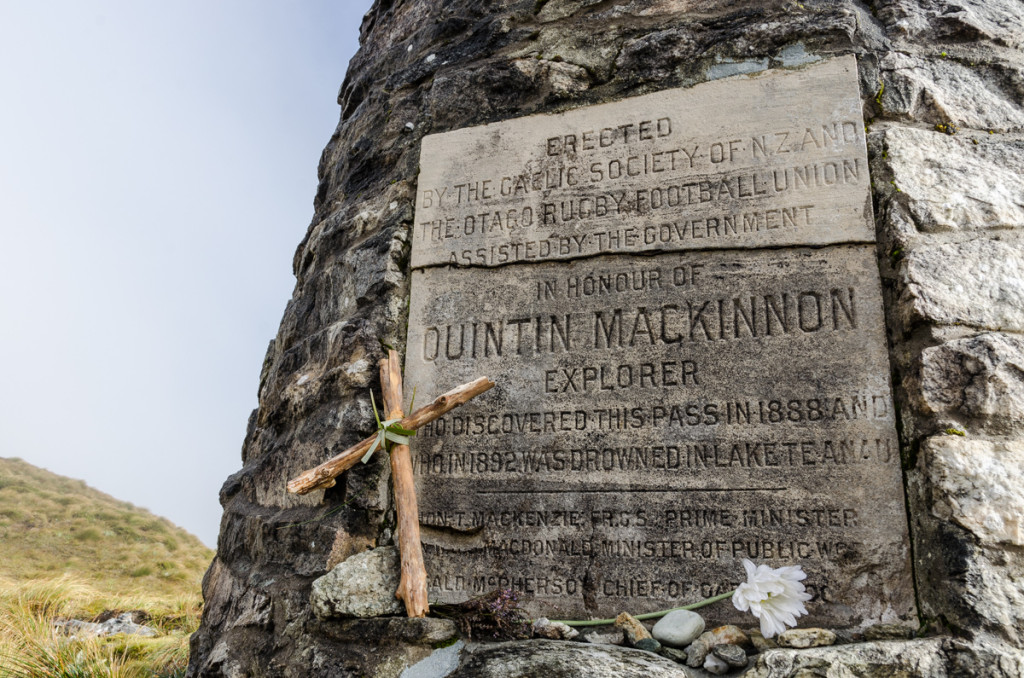 Mackinnon Pass Memorial, Milford Track