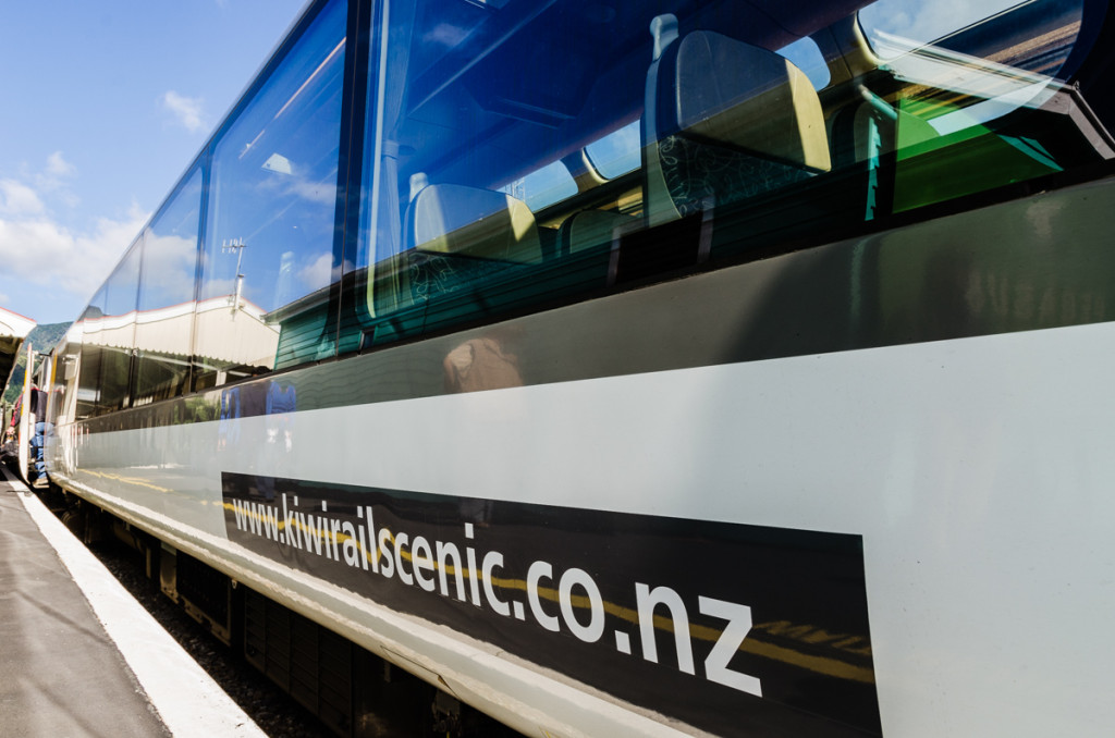 New Zealand's Coastal Pacific train