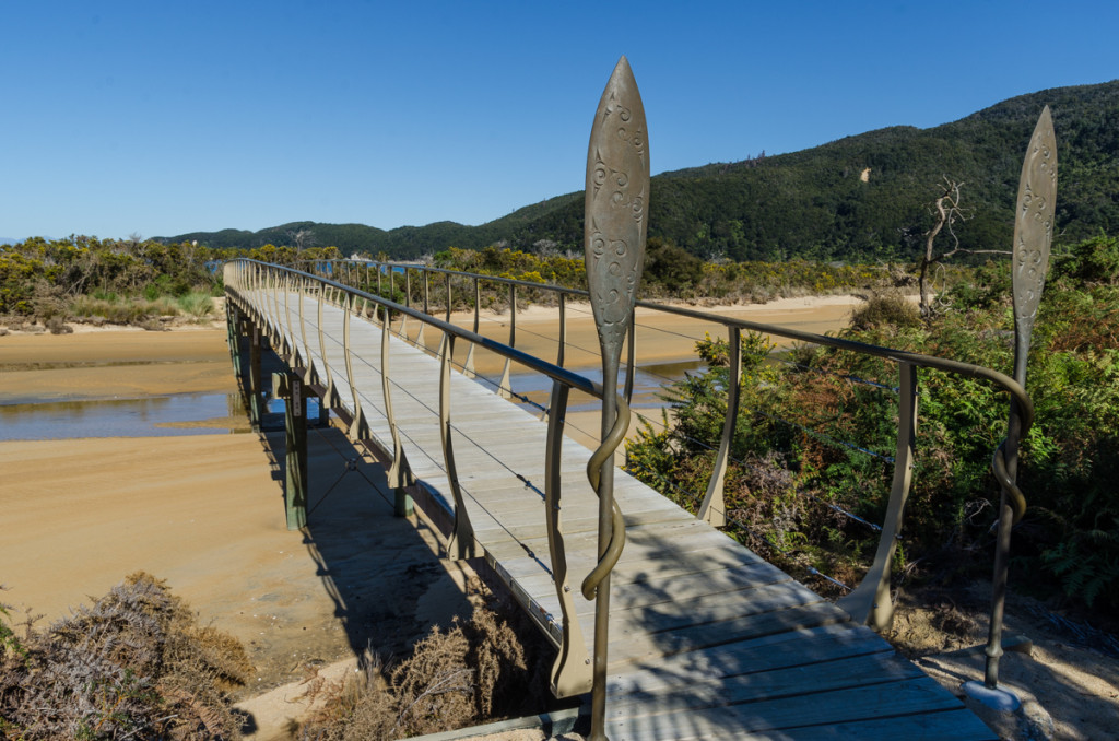Bridge by Onetahuti Bay, Abel Tasman Coast Track