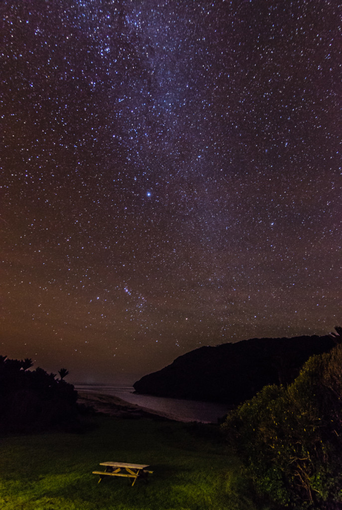 Starry sky from Heaphy Hut