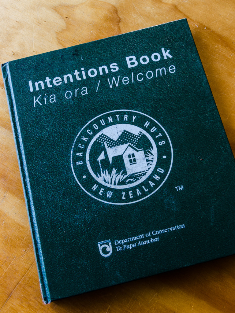 Intentions Book from New Zealand's Department of Conservation