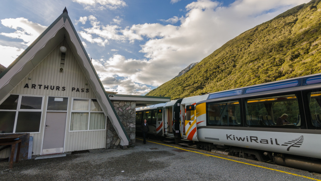 Arthur's Pass Station of the Tranzalpine train