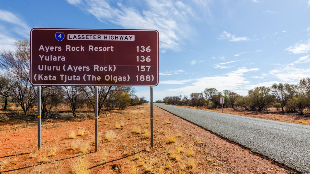 Lasseter Highway to Uluru