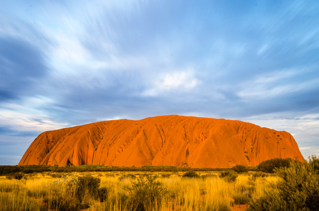 Uluru during sunset