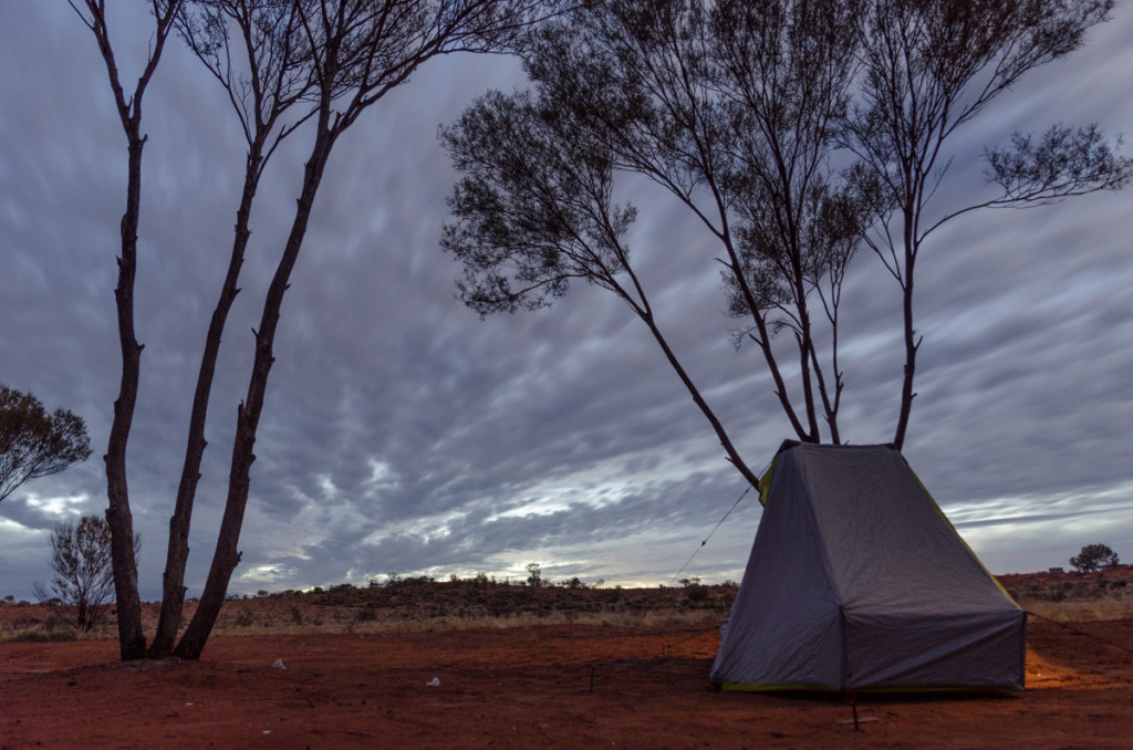 Camping on the way to Uluru