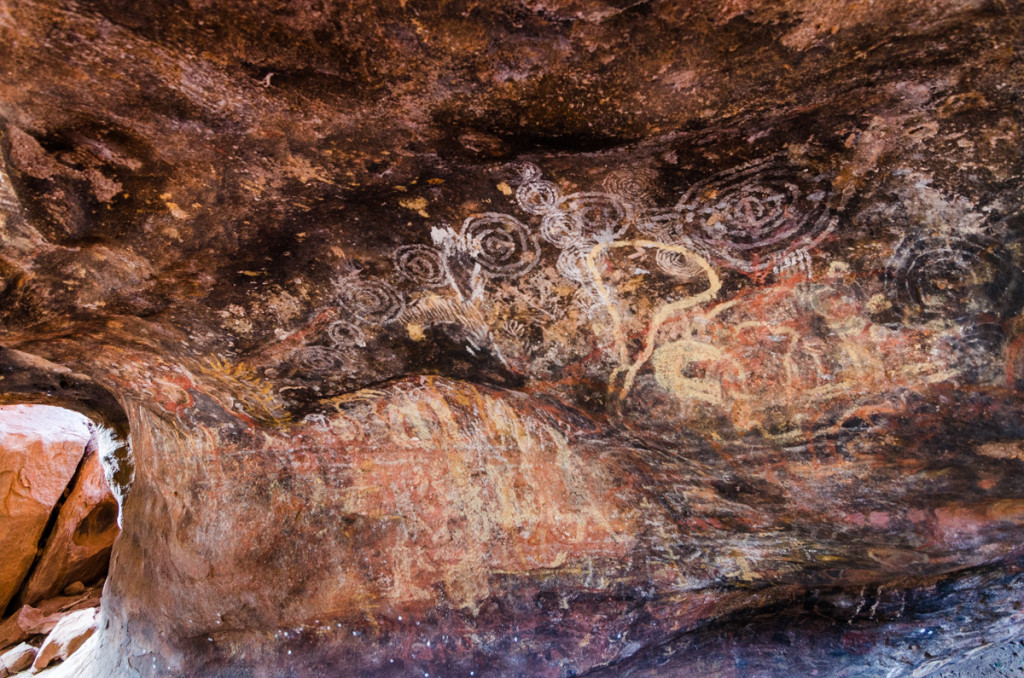 Aboriginal art close to Mutitjulu Waterhole