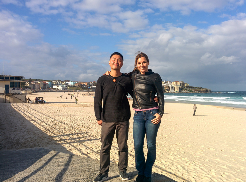 Meeting Kim at Bondi Beach, Australia