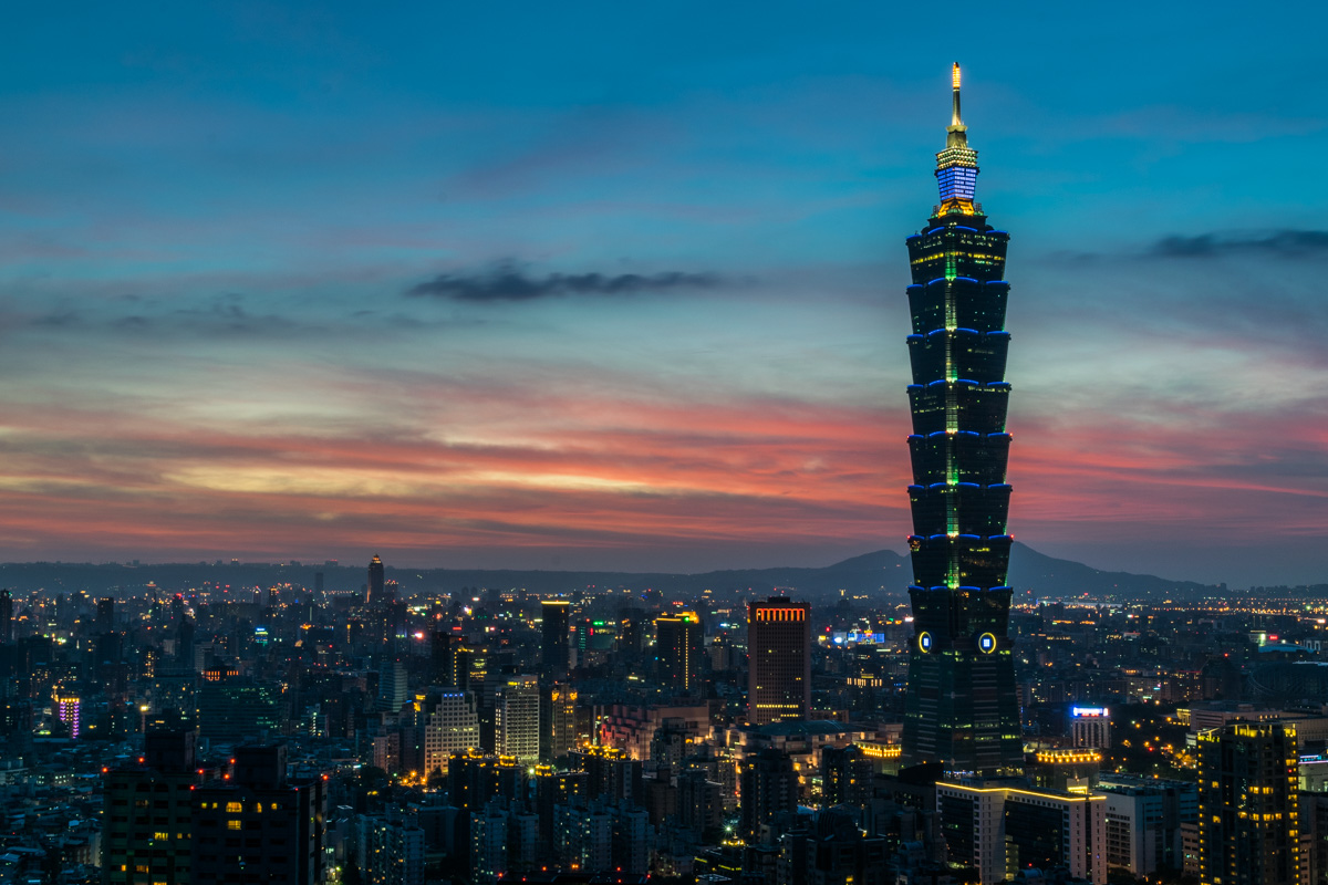 Taipei 101 from Elephant Mountain