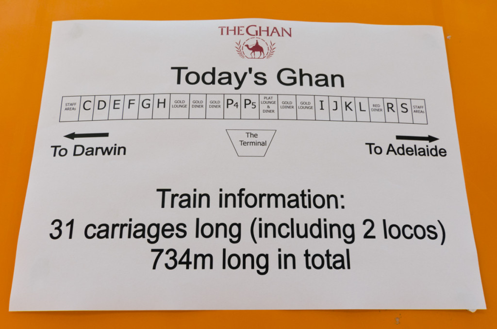 Train configuration for The Ghan