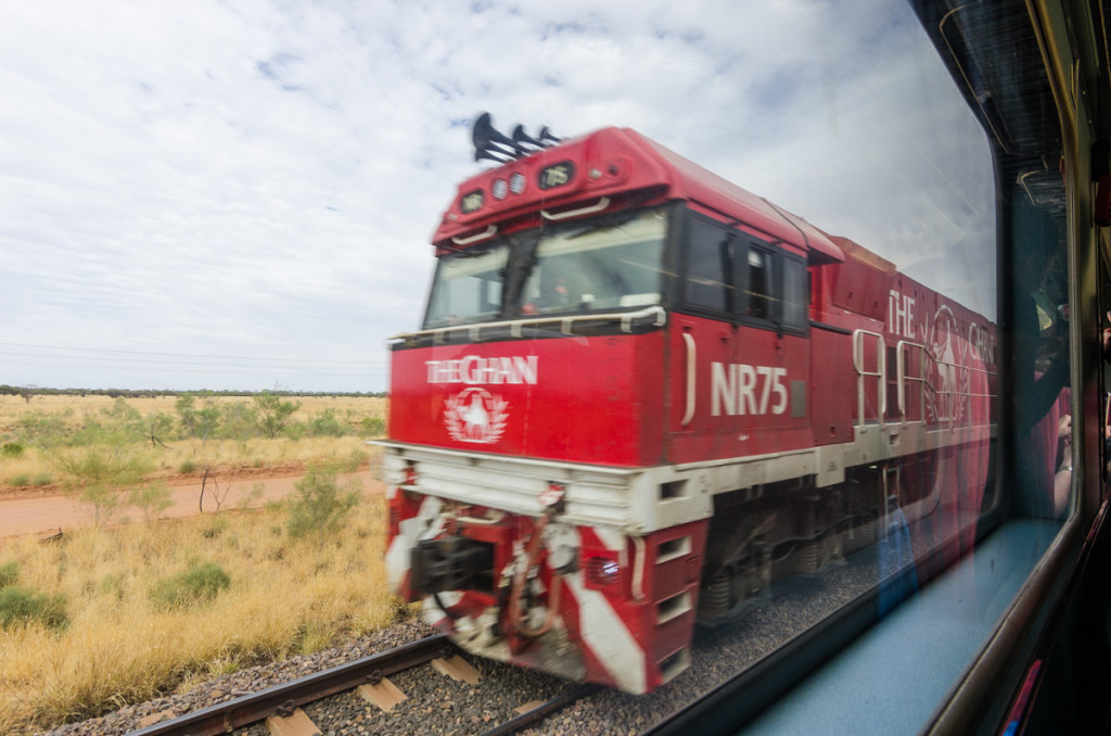 The Ghan passing by another Ghan
