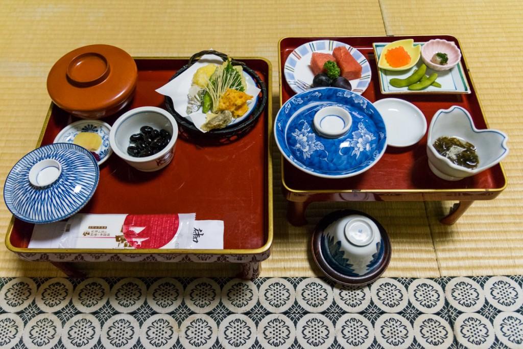 Dinner at Shojoshin-in temple, Mount Koya