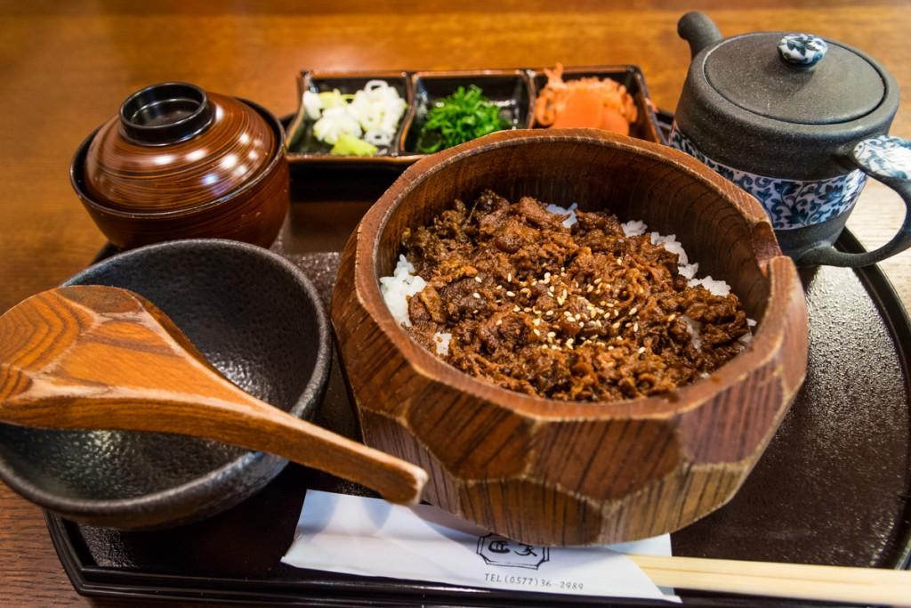 Hida beef on rice, Takayama