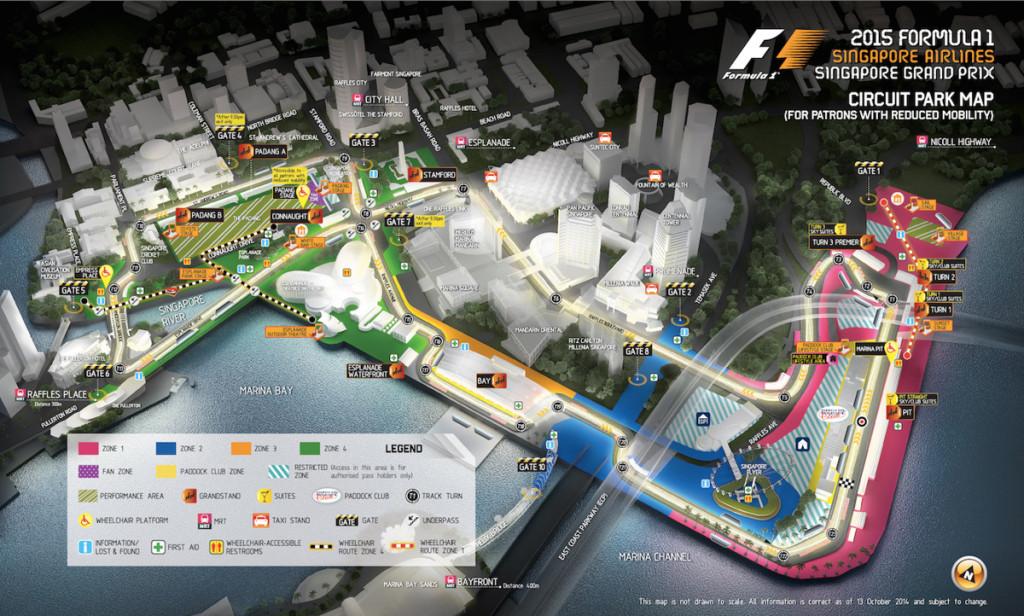 Singapre Grand Prix map