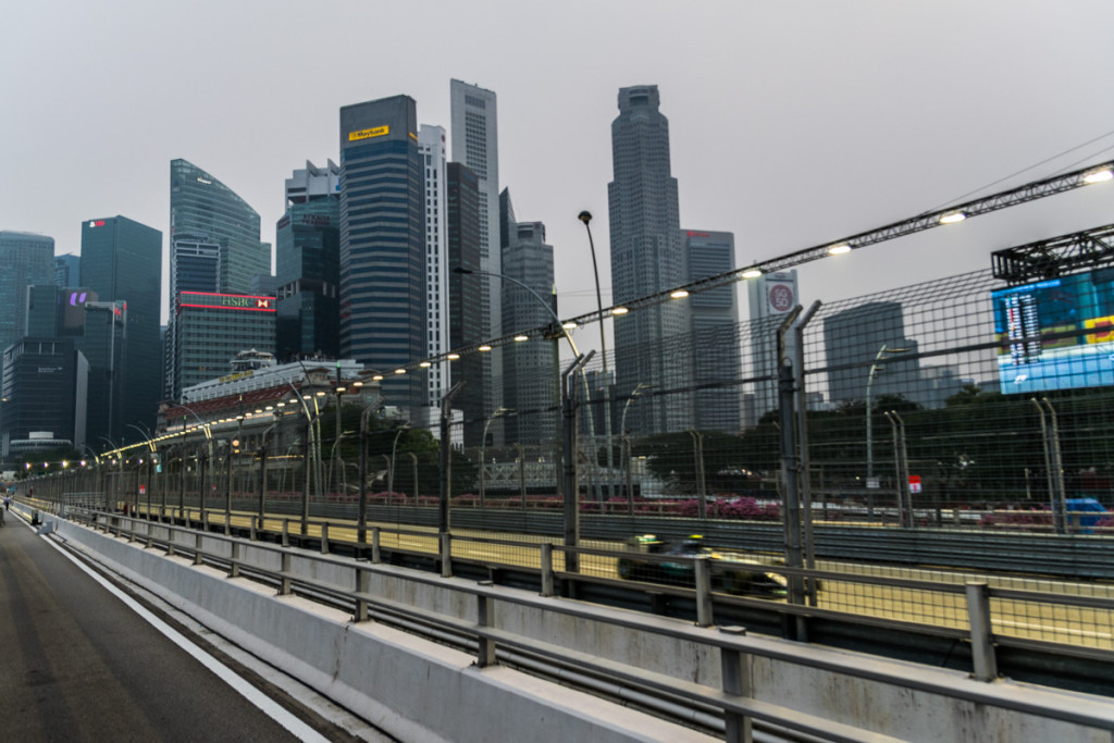 Viewing platform on Esplanade Bridge, Singapore Grand Prix