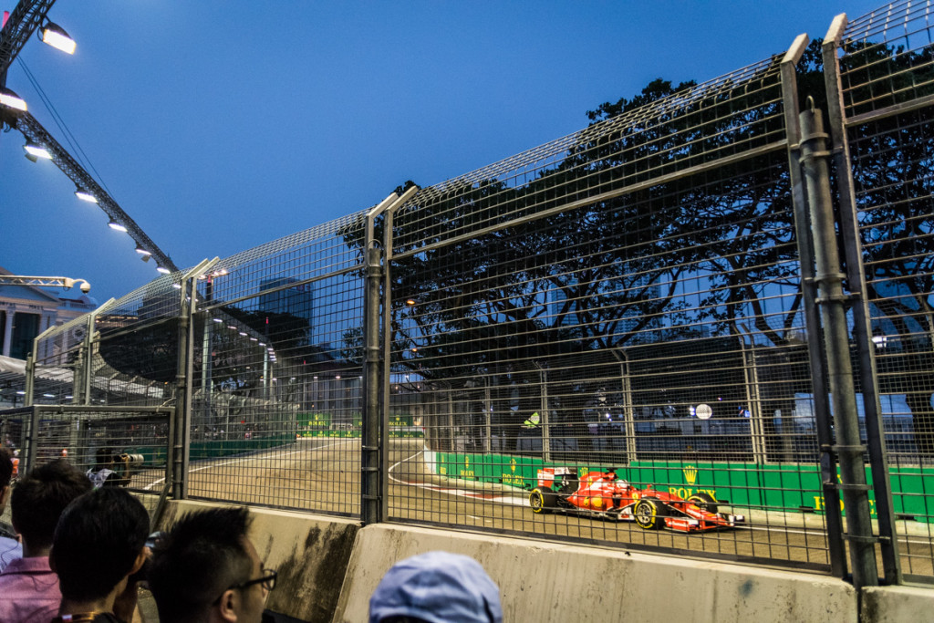Viewing platform between turns 12 and 13, Singapore Grand Prix