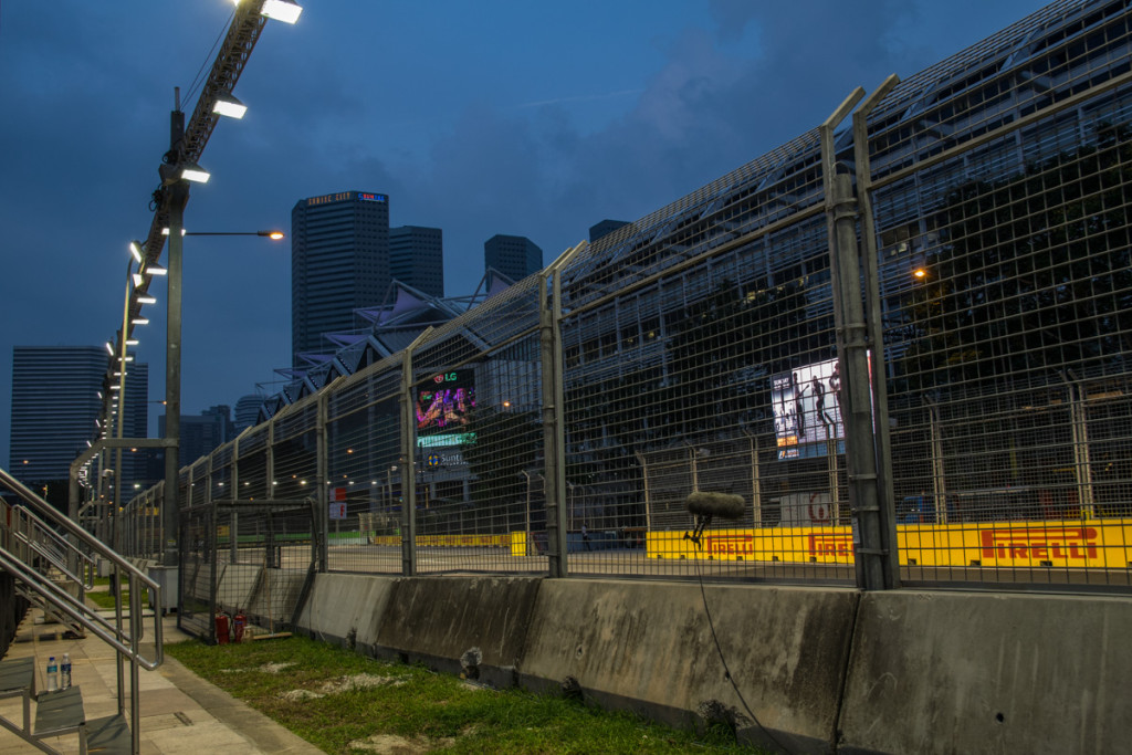 Viewing stands next to Stamford Grandstand, Singapore Grand Prix