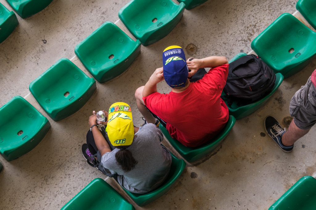 Valentino Rossi fans at the Malaysian MotoGP