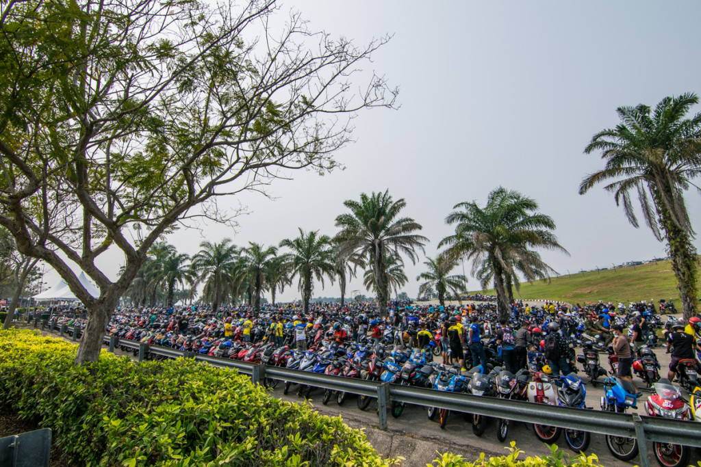 Motocycle parking lot, Malaysian MotoGP