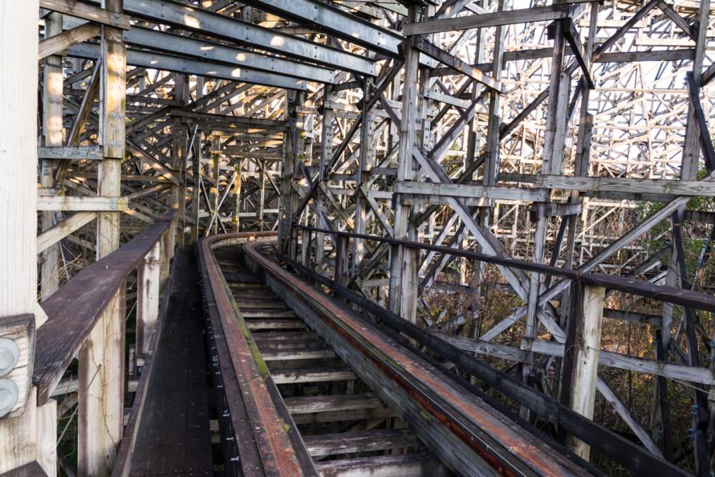 Aska wooden roller coaster, Nara Dreamland