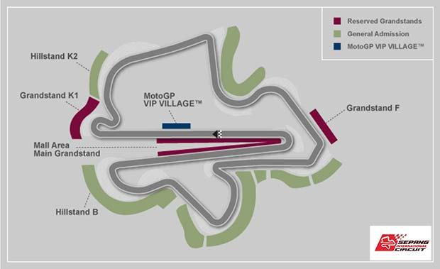 Malaysian MotoGP Sepang map