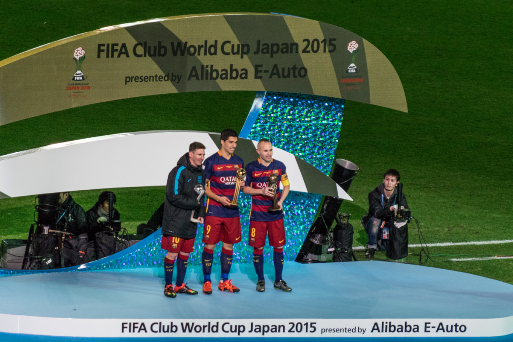 Messi, Suarez, and Iniesta, FIFA Club World Cup