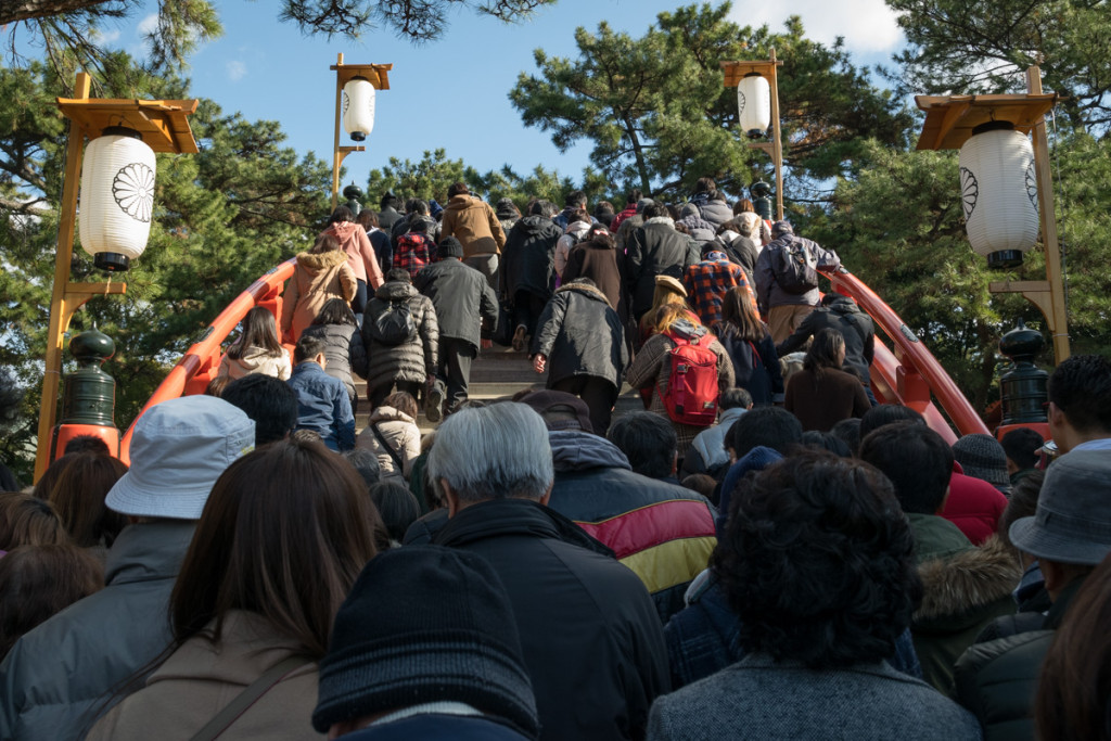 New Year's Day, Sumiyoshi Taisha, Osaka