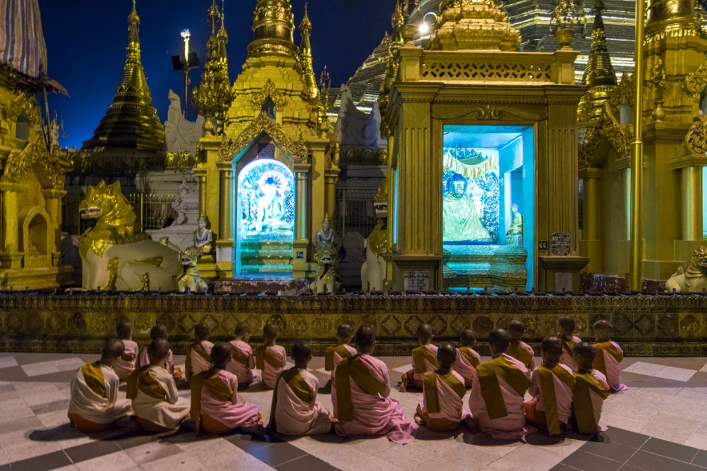 Young monks, Shwedagon Pagoda, Yangon