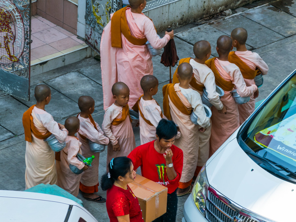 Novice monks, Yangon, Myanmar