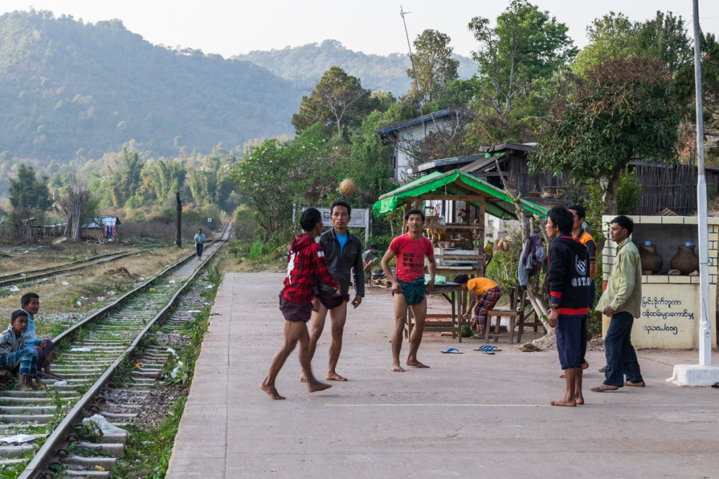 Train station, Myanmar