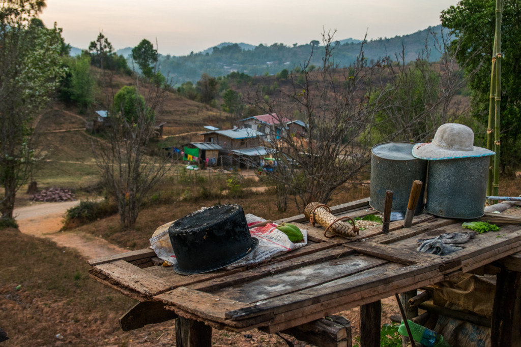 Village on hike from Kalaw to Inle Lake