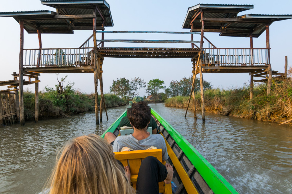 Boat from Indein to Inle Lake
