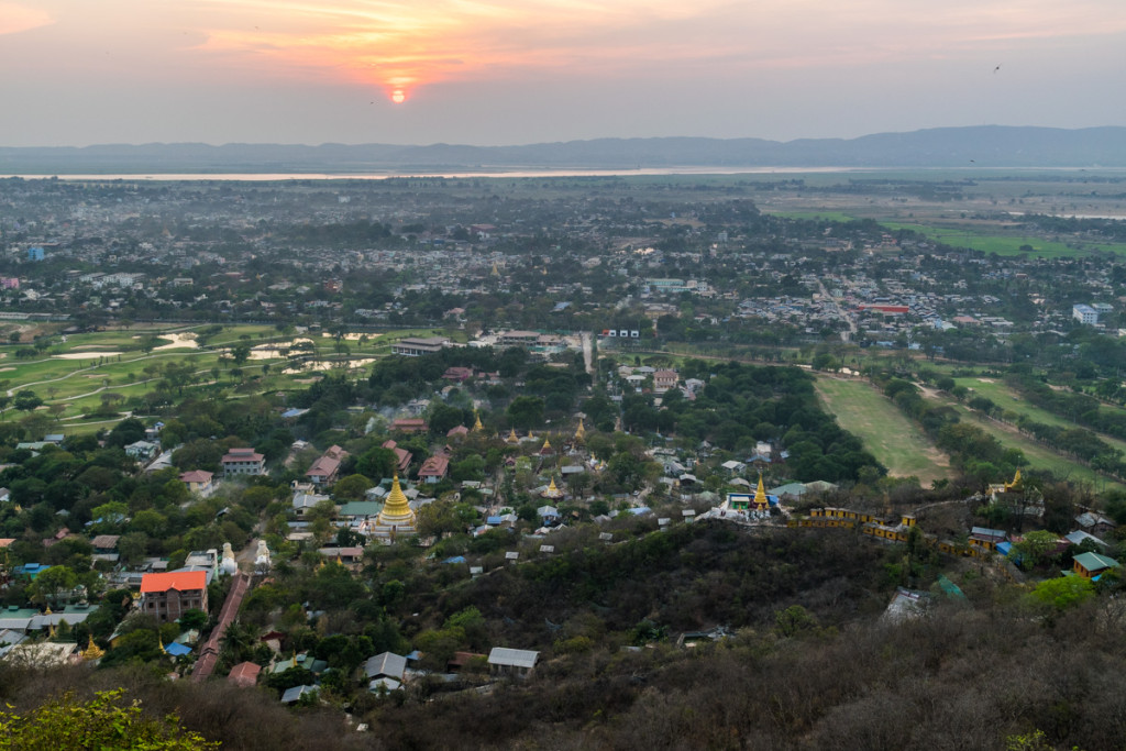 Sunset at top of Mandalay Hill