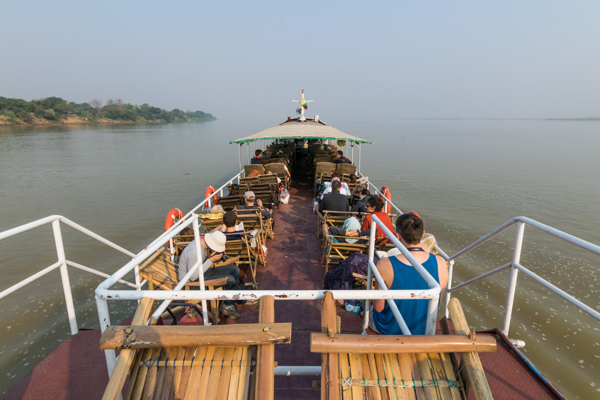 Boat from Mandalay to Bagan