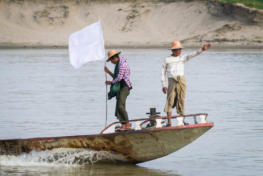 Views from boat from Mandalay to Bagan