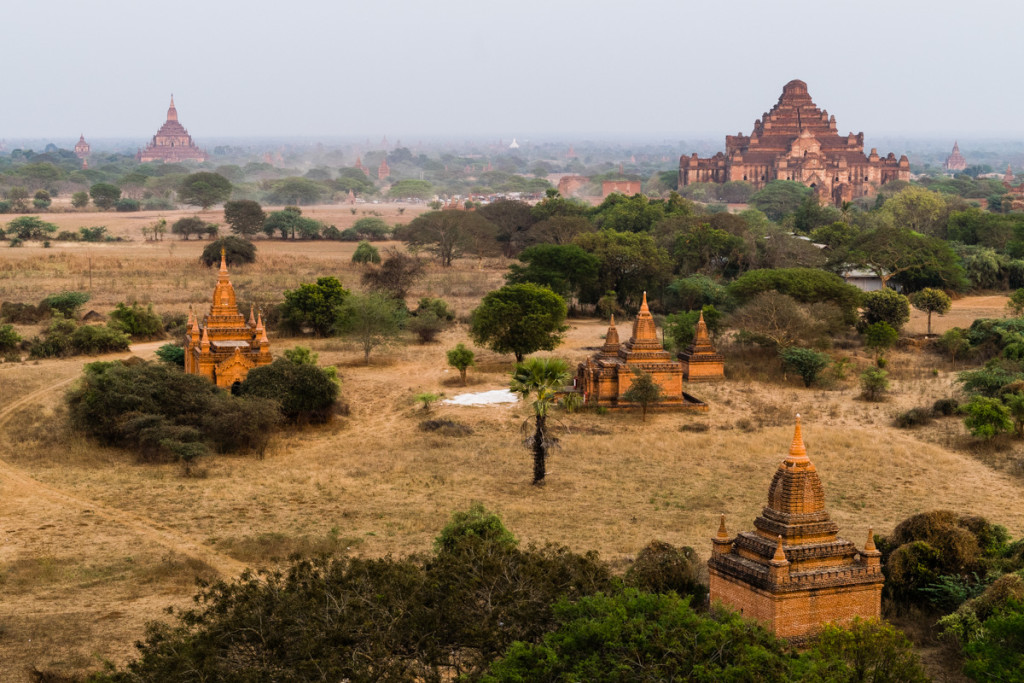 Views from Shwesandaw Pagoda, Myanmar