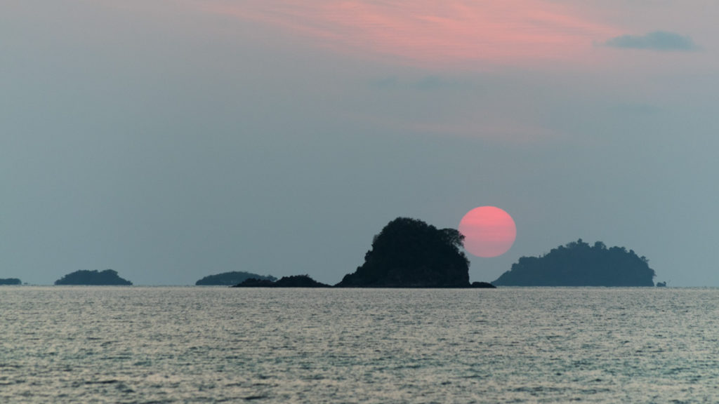 Sunset from Koh Mak, Thailand