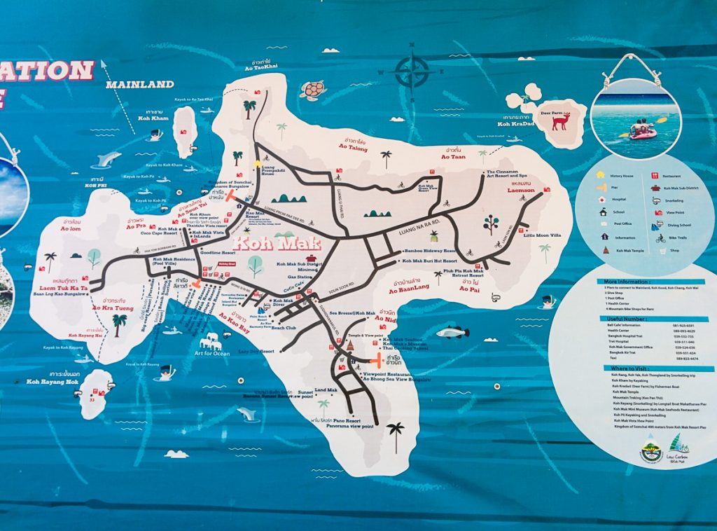 Map of Koh Mak