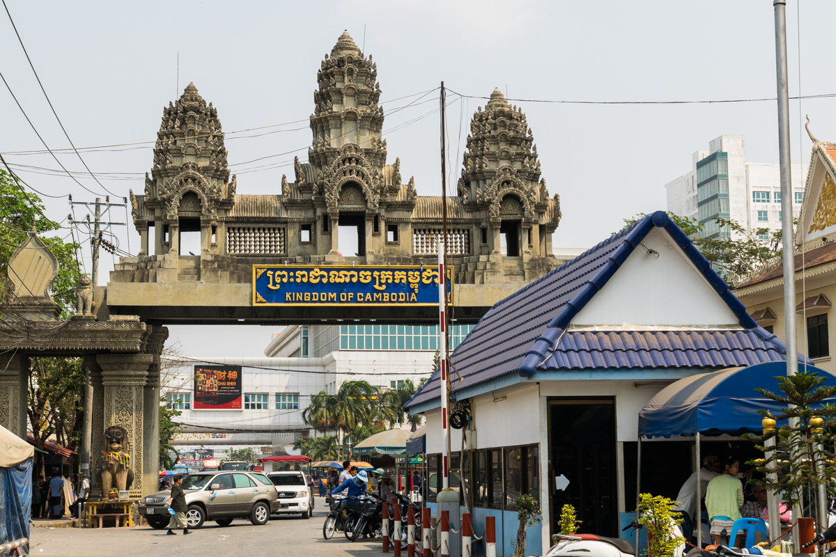 Thailand-Cambodia border crossing at Poi Pet