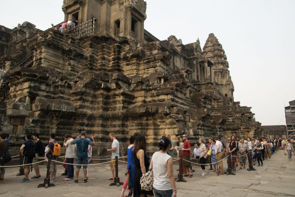 Long lines at Angkor Wat
