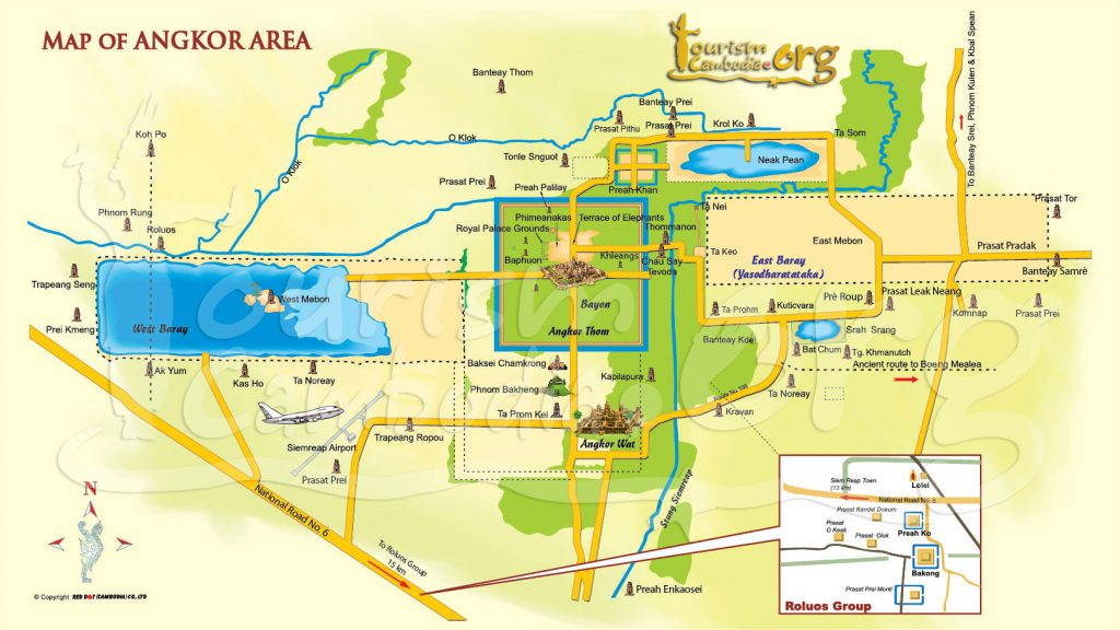 Map of Angkor area