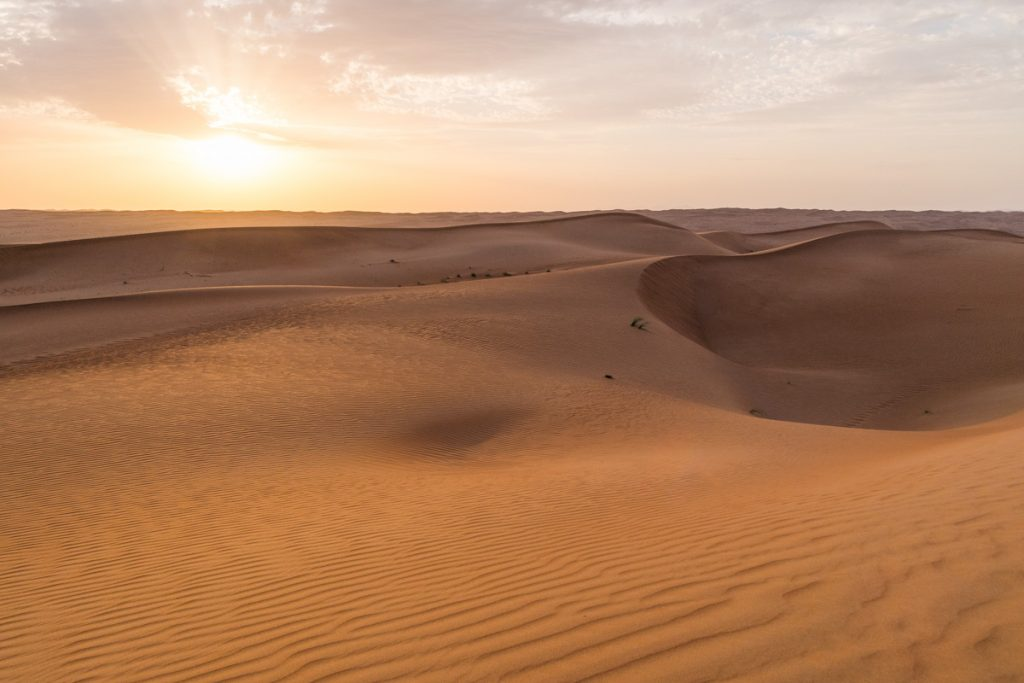Sunset over Sharqiya Sands