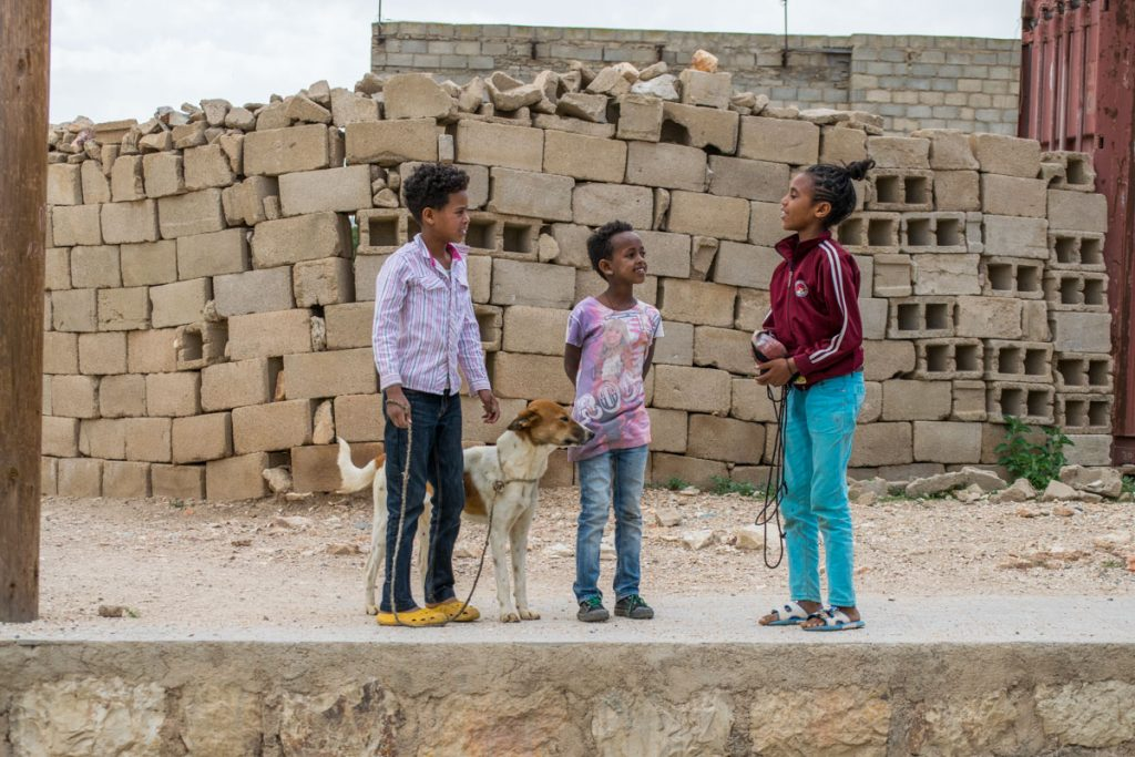 Locals kids, Adi Keyh, Eritrea