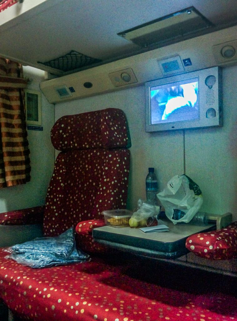 Night train from Masshad to Yazd