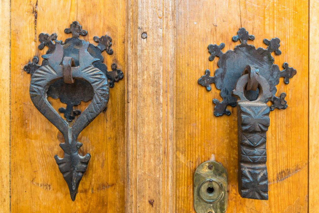 Old door handles, Abyaneh, Iran