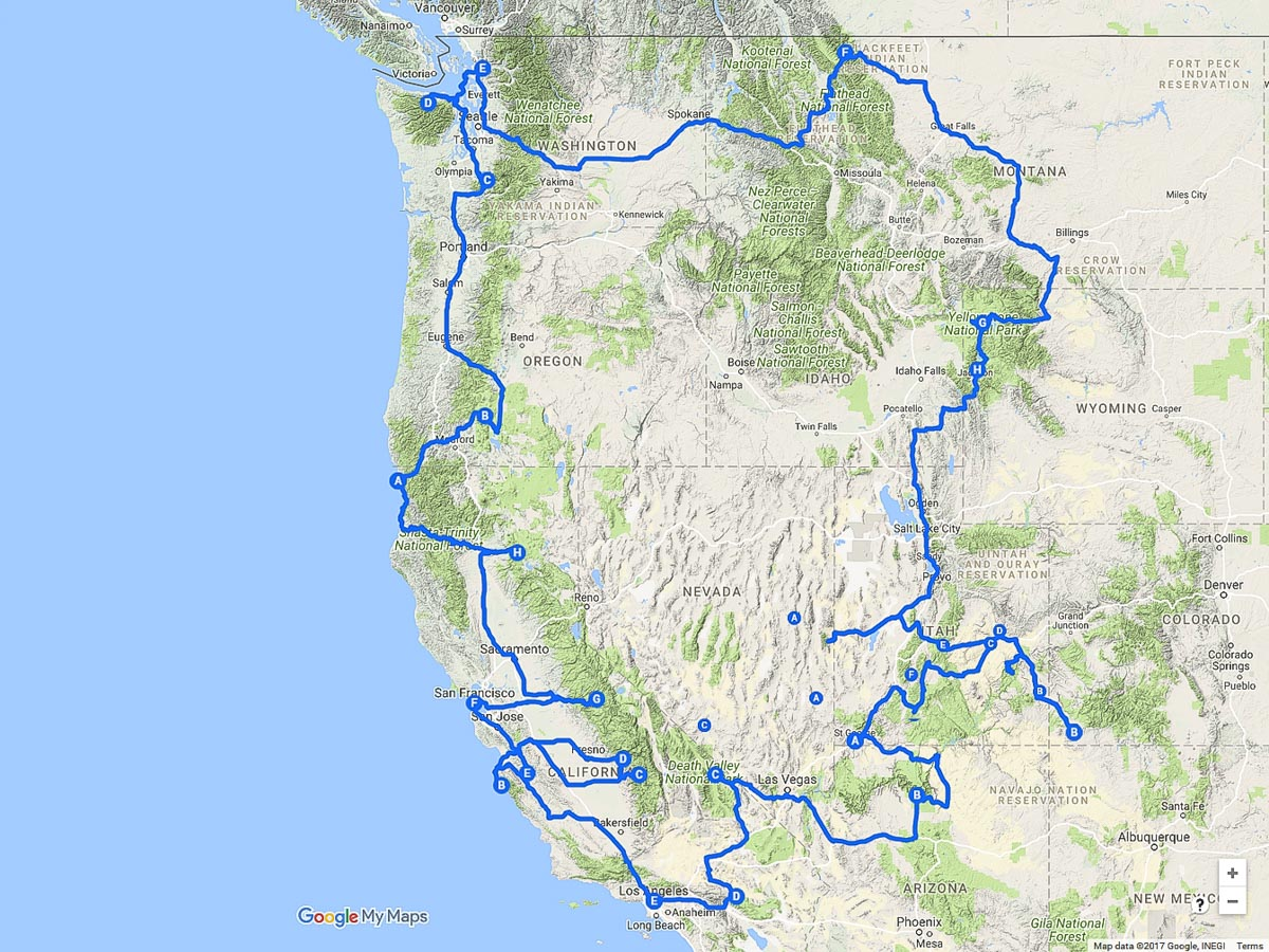 Western Usa Road Trip Planning Kevin S Travel Blog