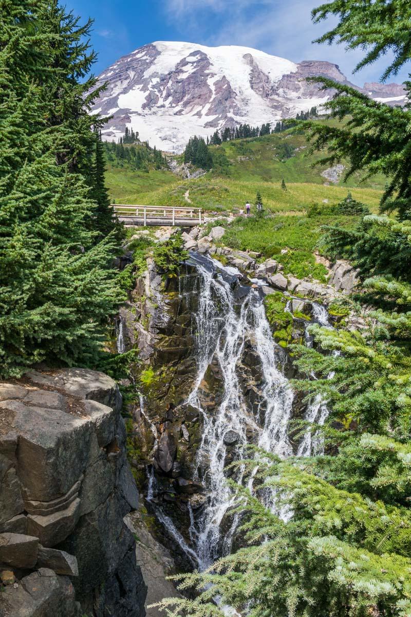 Myrtle Falls. Mount Rainier National Park